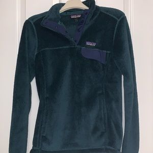 Women's Patagonia Re-tool snap-tee fleece pullover